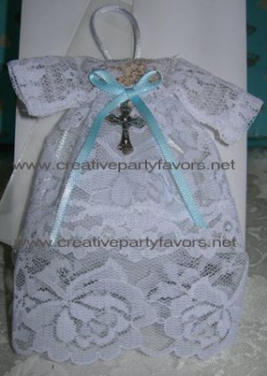 Baptism Gown Favor Sachet