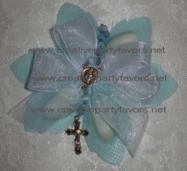 Italian Almond Favor w/ Rosary