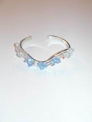 Cuff - aquamarine and clear