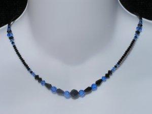 Jet & Sapphire necklace