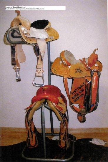 Powder Coated 3 tier saddle Rack High Country Plastics