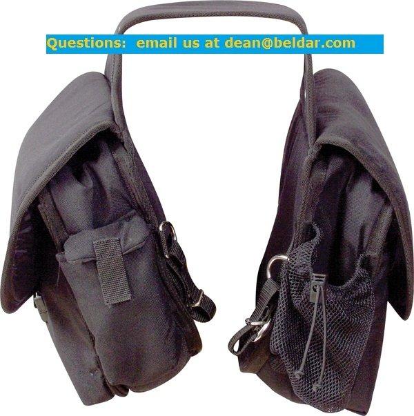 CASHEL Deluxe Saddle Bag Black