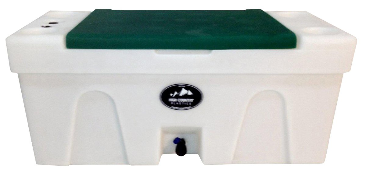 BENCH WATER CADDY Forest Green LID High Country Plastics