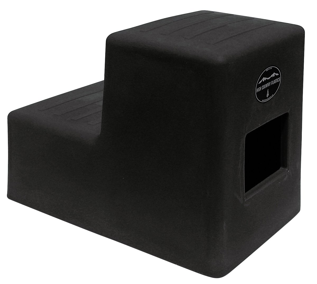 2 Step Horse Mounting Block Black High Country Plastics