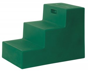 3 Step Horse Mounting Block Forest Green with storage High Country Plastics