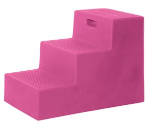 3 Step Horse Mounting Block Pink with storage High Country Plastics