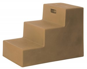 3 Step Horse Mounting Block Tan with storage High Country Plastics