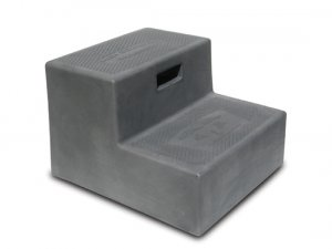 2 Step Trailer RV Step High Country Plastics Ash Gray
