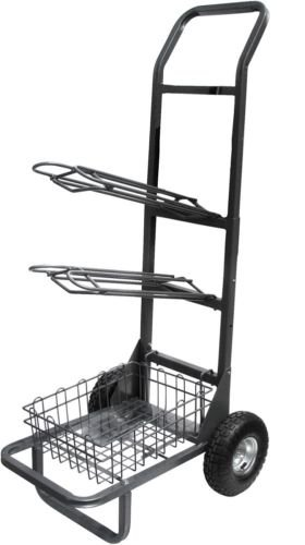 Heavy Duty two wheel Saddle Rack Cart High Country Plastics