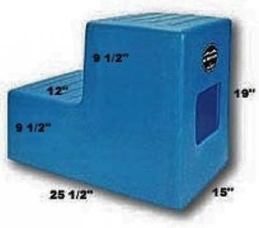 2 Step Horse Mounting block BLUE High Country Plastics
