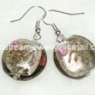 GER022 LAMPWORK GLASS SMOKY FLOWERS DANGLE EARRINGS 300 PAIRS