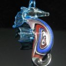GP1040 LAMPWORK GLASS SWIRL SEAHORSE PENDANT 300 PCS