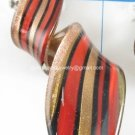 GP1320 LAMPWORK GLASS RED GOLD SAND TWISTER PENDANT 300PCS