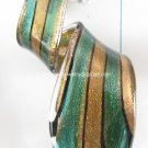 GP1323  LAMPWORK GLASS BLUE GOLD SAND TWISTER PENDANT 300PCS