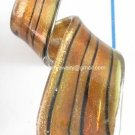 GP1324  LAMPWORK GLASS DARK ORANGE GOLD SAND TWISTER PENDANT 300PCS
