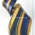 GP1325 LAMPWORK GLASS NAVY GOLD SAND TWISTER PENDANT 300PCS