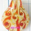 GP1345 LAMPWORK GLASS MILKY GOLD FOIL LEAF PENDANT 300PCS
