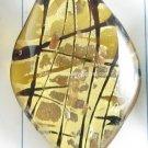 GP1347 LAMPWORK GLASS GOLD FOIL LEAF PENDANT 300PCS