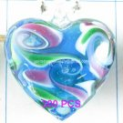 GP1302 LAMPWORK GLASS TURQUOISE HEART PENDANT 300PCS