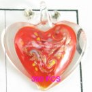 GP1309 LAMPWORK GLASS RED HEART PENDANT 300PCS