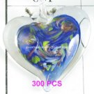 GP1310 LAMPWORK GLASS NAVY HEART PENDANT 300PCS