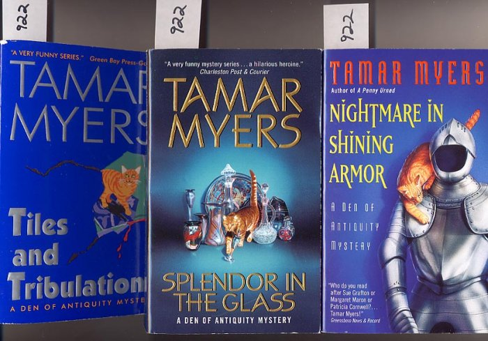 Lot of 3 Tamar Myers Den of Antiquity Series PB
