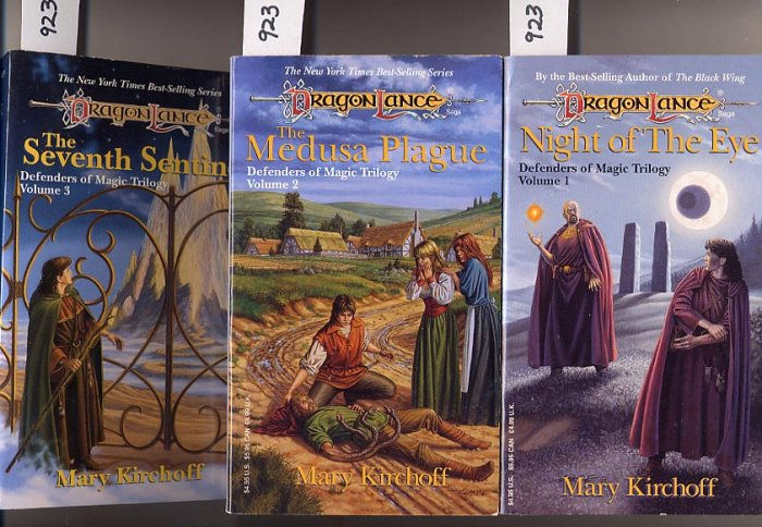 Lot of 3 Defenders of the Magic Trilogy by Mary Kirchoff