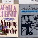 Lot of 2 Agatha Christie - Murder on the Orient Express, Sleeping Murder PB