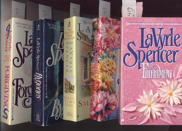 Lot of 5 LaVyrle Spencer - Bygones, Sweet, Forgiving, Fulfillment, Small Town Girl PB