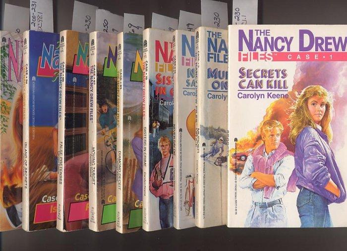 Lot of 9 Nancy Drew Casefiles - #1,3,16,19,83,87,88,98,110 PB