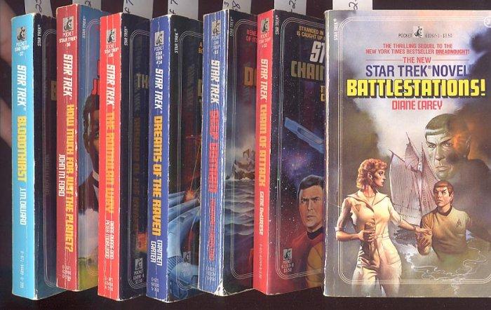 Lot of 7 Star Trek #31,32,33,34,35,36,37 PB