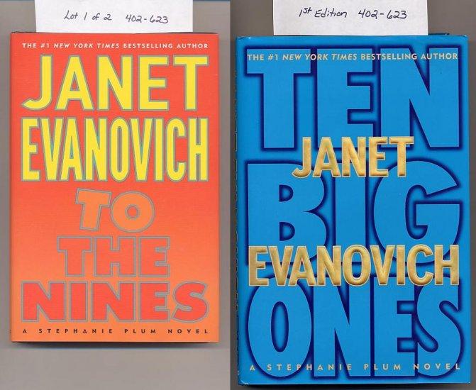 Lot of 2 Janet Evanovich - To The Nines, Ten Big Ones HC