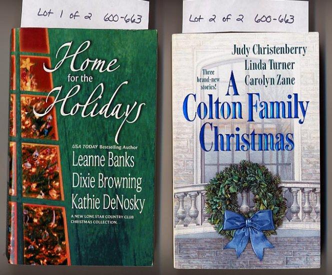 Lot of 2 Christmas Silhouette Anthologies - Banks, Zane, more