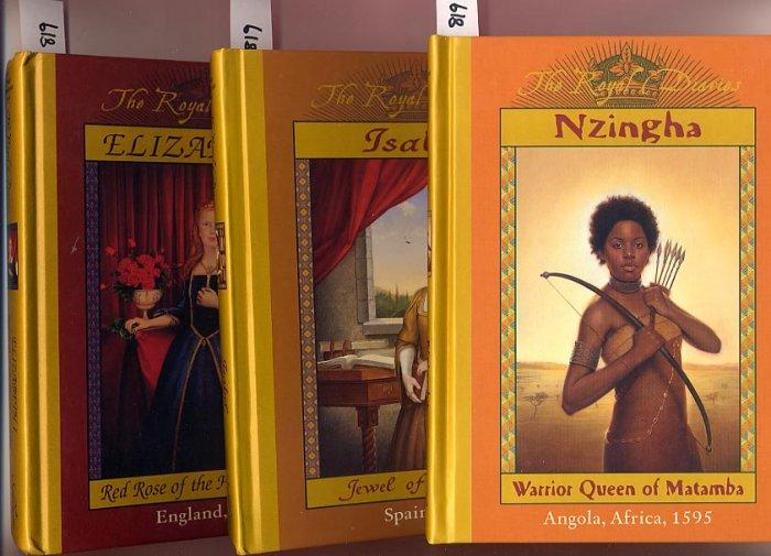 Lot of 3 Royal Diaries Elizabeth I, Isabel, Nzingha HC