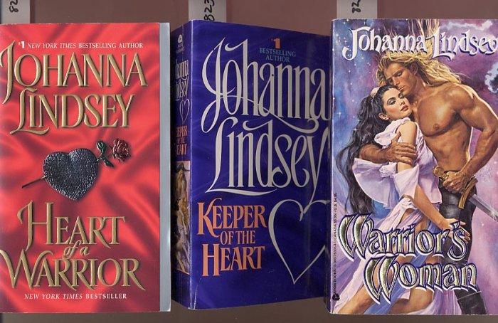 Lot of 3 Johanna Lindsey - Warrior's Woman, Keeper, Heart PB