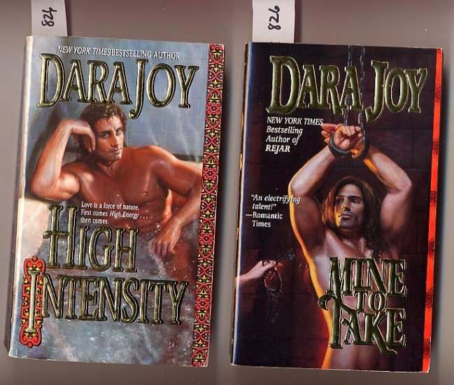 Lot of 2 Dara Joy - Mine to Take, High Intensity PB