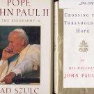 Lot of 2 Pope John Paul II - Threshold, Biography HC