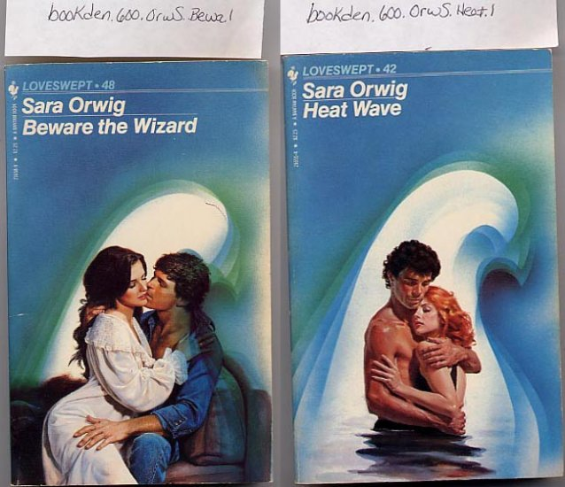 Lot of 2 by Sara Orwig - Beware the Wizard, Heat Wave PB