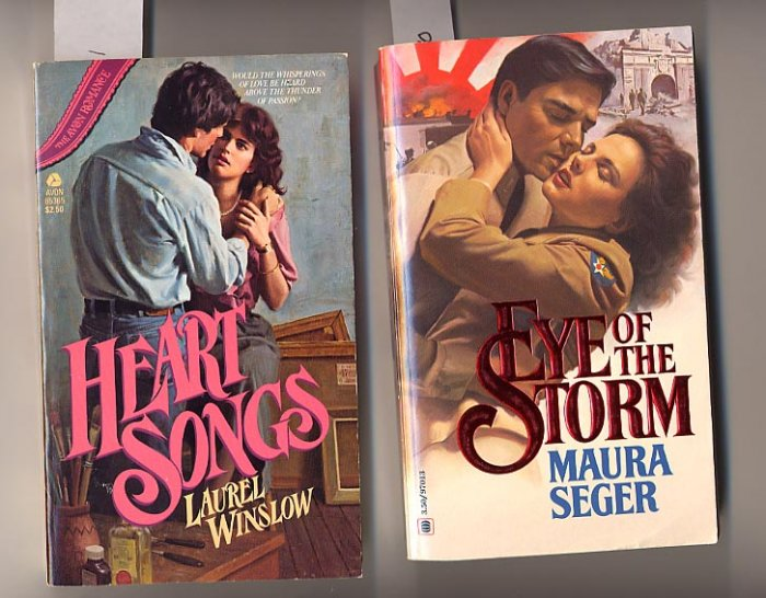 Lot of 2 Eye of the Storm and Heart Songs by Maura Seger PB