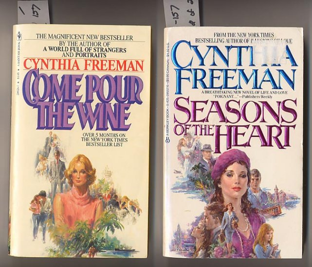 Lot of 2 Cynthia Freeman-Come Pour the Wine, Seasons of the Heart PB