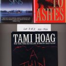 Lot of 3 Tami Hoag - Night Sins, Ashes, This Dark Line