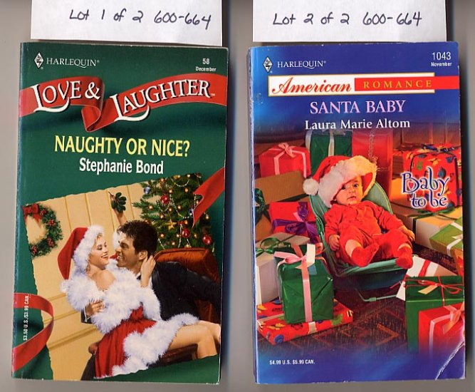 Lot of 2 Harlequin Naughty or Nice by Bond, Santa Baby by Altom