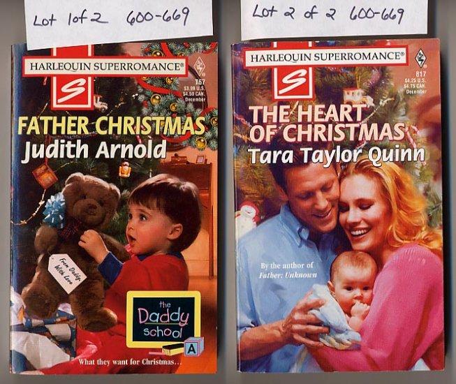 Lot of 2 Harlequin Father Christmas Arnold, Heart of Christmas Quinn PB