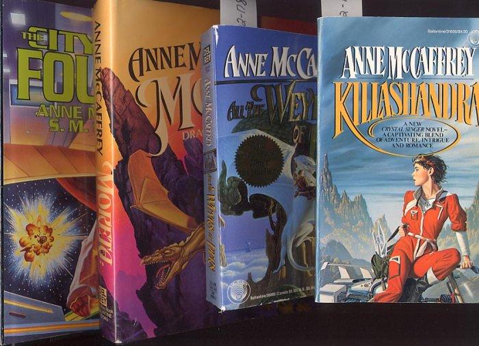 Lot of 4 Anne McCaffrey - Killashandra, Weyrs of Pern, more