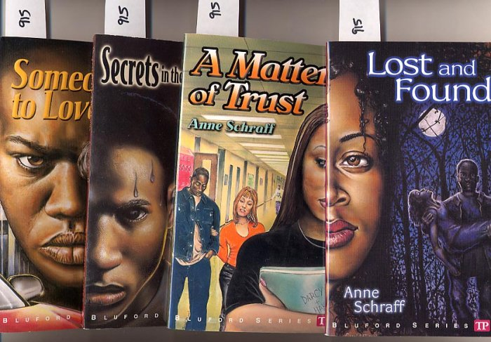 Lot Of 4 Bluford Series By Anne Schraff Lost Trust More Pb