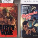 Lot of 2 Don Pendelton Mack Bolan, Resurrection Day, Dirty War PB