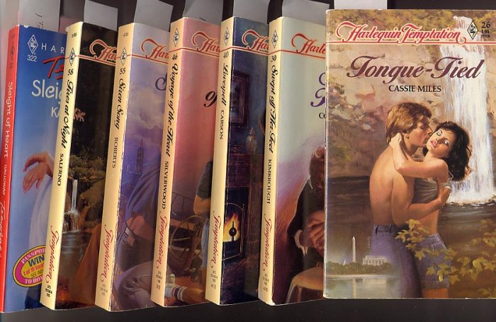 Lot of 7 Early Harlequin Temptation #26, 30,40, 46, 55, 58, 322