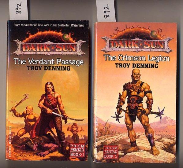 Lot of 2 Troy Denning Verdant Passage, Crimson Legion PB