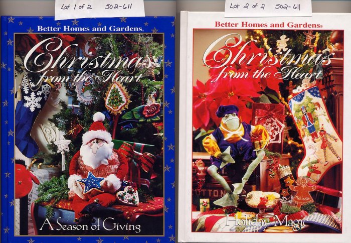 Lot of 2 Christmas from the Heart Better Homes & Gardens HC
