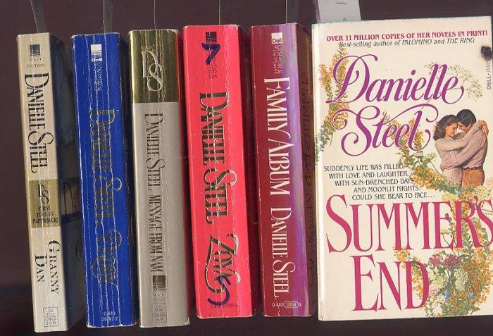 Lot of 6 Danielle Steel Summer's End, Family Album, Nam, Granny more